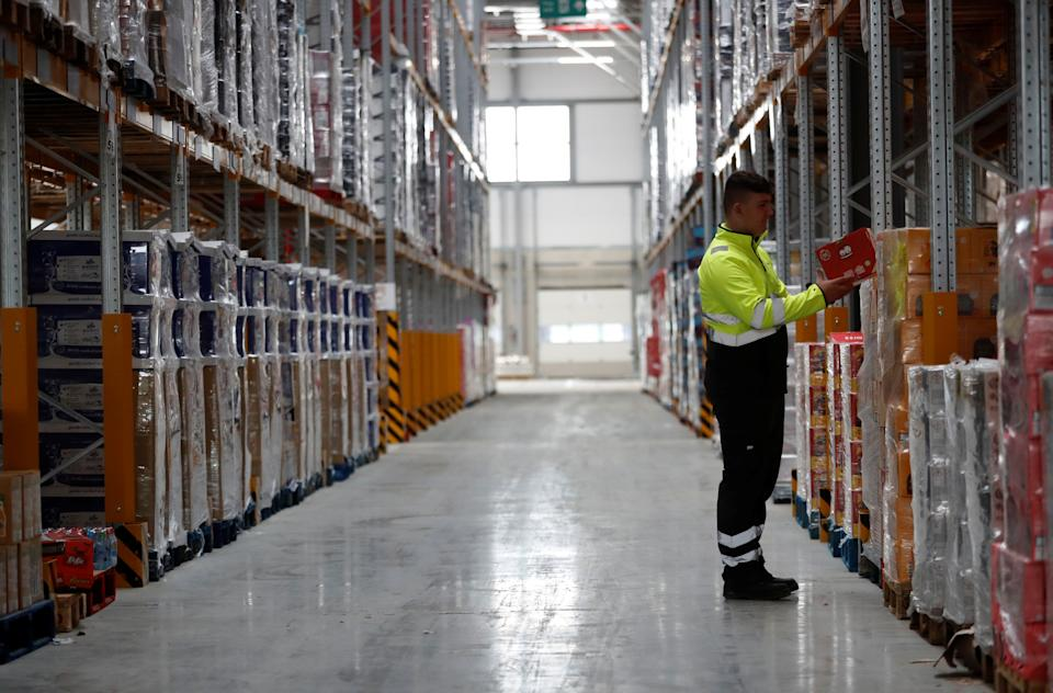 Lidl's new Scottish distribution centre in Motherwell, Scotland, Britain. Photo: Russell Cheyne/Reuters