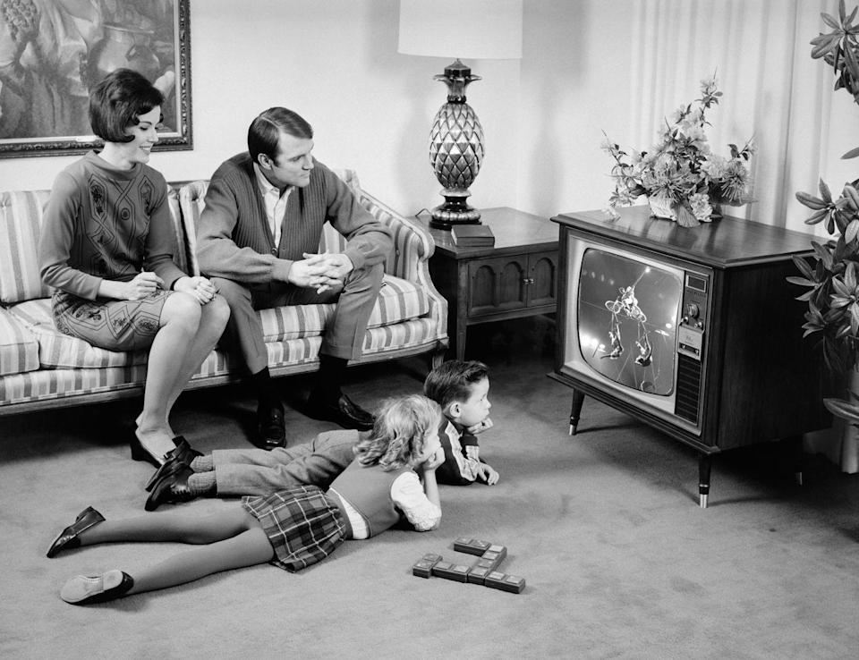 """<p>Older baby boomers might remember having to change TV channels by walking up and using the knobs, before remotes were common in every household. </p><p><strong>RELATED: </strong><a href=""""https://www.goodhousekeeping.com/life/entertainment/g31976746/entertaining-history/"""" rel=""""nofollow noopener"""" target=""""_blank"""" data-ylk=""""slk:Entertaining Guests at Home Looked Way Different 60 Years Ago"""" class=""""link rapid-noclick-resp"""">Entertaining Guests at Home Looked Way Different 60 Years Ago</a></p>"""