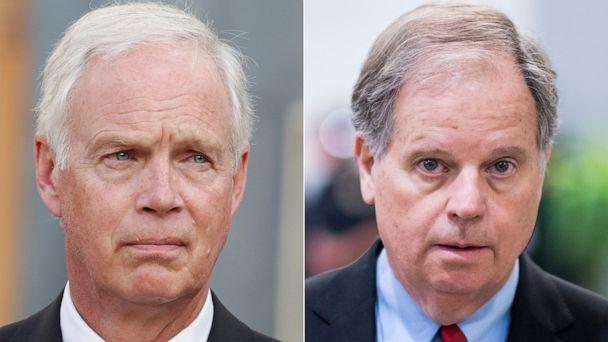 PHOTO: Sen. Ron Johnson and Sen. Doug Jones are seen separately on different occasions. (Getty Images)