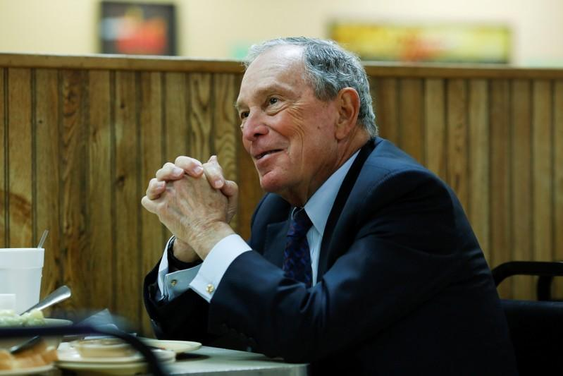 FILE PHOTO: Michael Bloomberg eats lunch in Arkansas