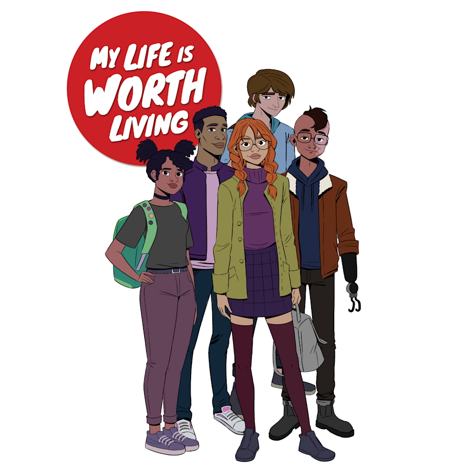 """""""My Life Is Worth Living"""" is a new animated series that tackles the topic of teen suicide and other mental health challenges."""