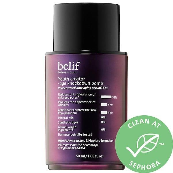 "<p><strong>Item: </strong><span>Belif Youth Creator- Age Knockdown Bomb</span> ($65) </p> <p><strong>What our editor said:</strong> ""Losing my bottle of this serum caused a fight between my partner and me. I had just begun falling in love with how it restored my skin's radiance and made it feel plump and bouncy with moisture, with just the very first application. (It contains cedrol and a flower called winter aster to do that.) One night, I showed it to my partner, who then said he loved how firm it made his skin feel . . . and that was the last time I saw the bottle. He swears he doesn't have it, and I guess I believe him (for the most part)."" - JMC</p> <p>If you want to read more, here is <a href=""https://www.popsugar.com/beauty/Best-Skincare-Products-September-2019-46563411"" class=""link rapid-noclick-resp"" rel=""nofollow noopener"" target=""_blank"" data-ylk=""slk:the complete review"">the complete review</a>.</p>"