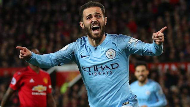 The Portuguese had another fine game as Manchester City beat local rivals United on Wednesday, leaving the Spanish boss overjoyed