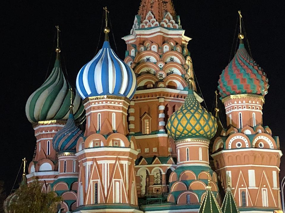 <p>Star turn: St Basil's Cathedral in central Moscow</p> (Simon Calder)