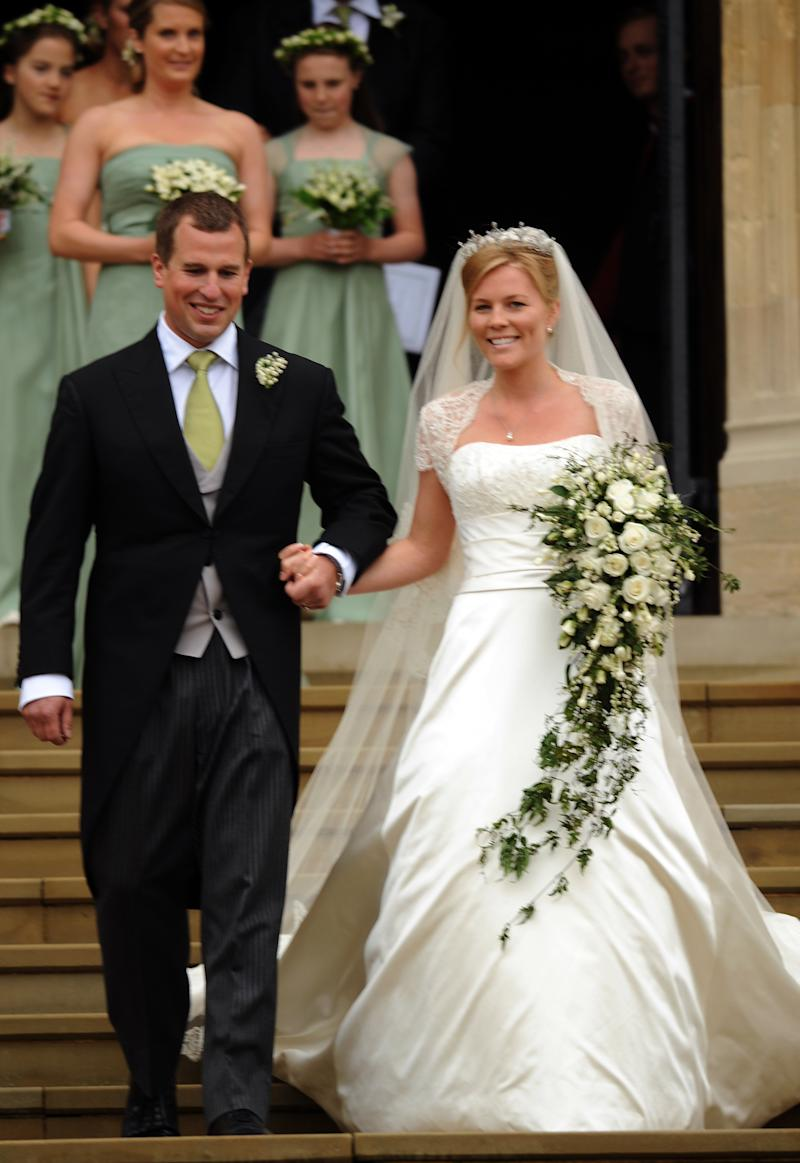 Peter Phillips marries Autumn Kelly at St. George's Chapel on May 17, 2008 in Windsor, England.