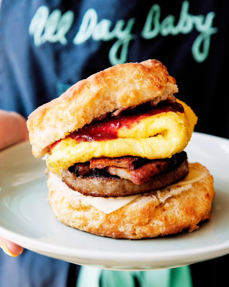 Go big with a breakfast sandwich at All Day Baby