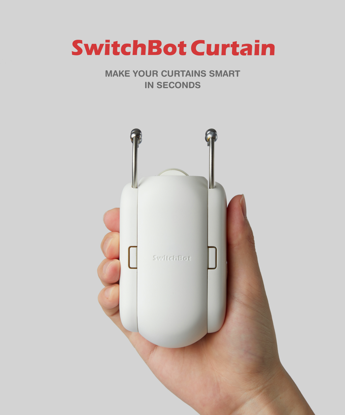 The SwitchBot smart curtain attachment