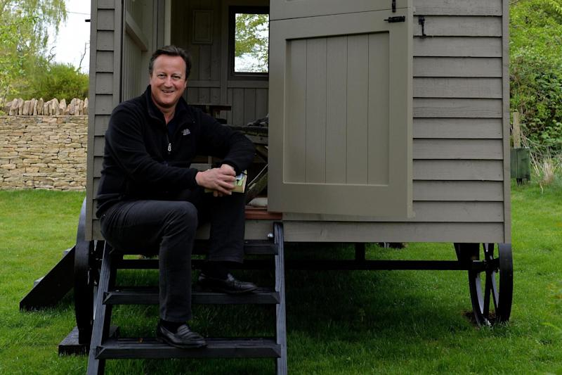 Luxury hut: David Cameron said he plans to write a book in his new designer garden shed: PA