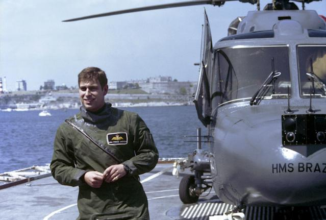 Prince Andrew serving aboard HMS Brazen (Credit: PA Images via Getty Images)