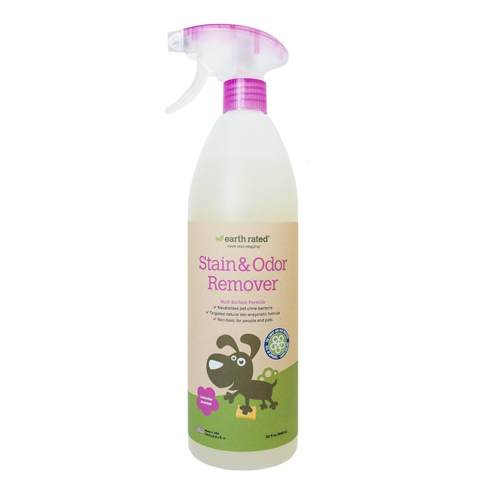 "<p>Who knows how to clean pet stains best? That's easy: pet owners. A group of pet-owning scientists came together to create the natural product known as <a href=""https://www.amazon.com/Earth-Rated-Lavender-scented-Eliminator-Non-Toxic/dp/B015OW94LY/ref=as_li_ss_tl?ie=UTF8&linkCode=ll1&tag=rsnaturaldeepcleaningproductspetstainswalmartcpcsleasca0819-20&linkId=8287f6ffb8aeb8e58f4c4f61609e3f2d&language=en_US"" target=""_blank"">Earth Rated Pet and Odor Remover</a>. According to the company, the product is made with bio-enzymes that work to lift away stains and smells, leaving behind a delicious lavender scent instead. The spray nozzle allows users to target their cleaning to exactly where they need it. And, as a safe and nontoxic product for people and pets, it's one you can feel good about using throughout your home. (It's also available in <a href=""https://www.amazon.com/Earth-Rated-Lavender-scented-Eliminator-Non-Toxic/dp/B01J6B1GFG/ref=as_li_ss_tl?th=1&linkCode=ll1&tag=rsnaturaldeepcleaningproductspetstainswalmartcpcsleasca0819-20&linkId=a652f57e15ca916c45a4a68fc9dc835b&language=en_US"" target=""_blank"">unscented</a>.)</p> <p><strong>To buy:</strong> $14; <a href=""https://www.amazon.com/Earth-Rated-Lavender-scented-Eliminator-Non-Toxic/dp/B01J6B1GFG/ref=as_li_ss_tl?th=1&linkCode=ll1&tag=rsnaturaldeepcleaningproductspetstainswalmartcpcsleasca0819-20&linkId=ae530d063c1cf33e40501df836c1b662&language=en_US"" target=""_blank"">amazon.com</a>.</p>"