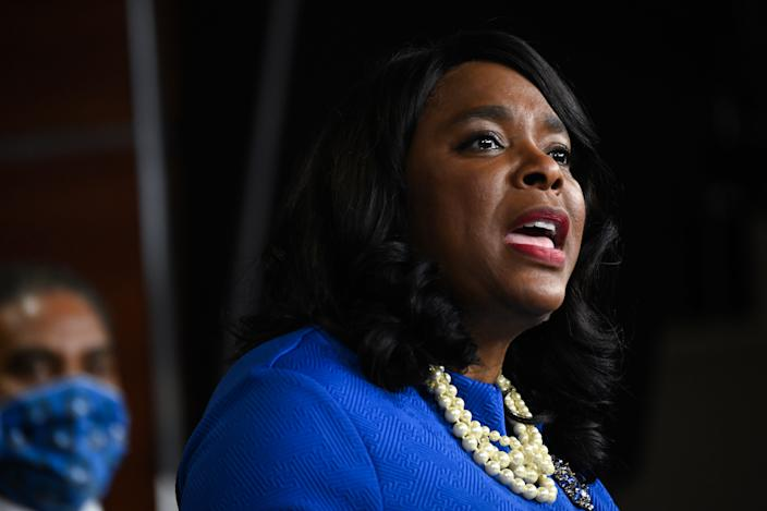 Representative Terri Sewell, a Democrat from Alabama, speaks during a news conference on Capitol Hill in Washington, D.C., U.S., on Wednesday, July 1, 2020. (Erin Scott/Bloomberg via Getty Images)