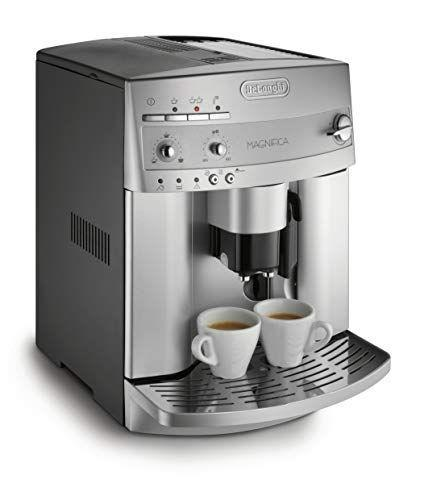 """<p><strong>De'Longhi</strong></p><p>amazon.com</p><p><strong>$529.95</strong></p><p><a href=""""https://www.amazon.com/dp/B000N2YKQ0?tag=syn-yahoo-20&ascsubtag=%5Bartid%7C1782.g.33523252%5Bsrc%7Cyahoo-us"""" rel=""""nofollow noopener"""" target=""""_blank"""" data-ylk=""""slk:BUY NOW"""" class=""""link rapid-noclick-resp"""">BUY NOW</a></p><p>This sleek and stylish machine will make you hot, barista-style expressos, cappuccinos, and lattes—all from freshly ground beans.</p>"""