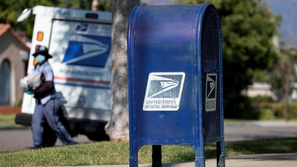 PHOTO: A United States Postal Service (USPS) mailbox is pictured in Pasadena, California, Aug. 17, 2020. (Mario Anzuoni/Reuters)