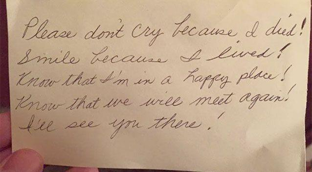 Widower Discovers Touching Goodbye Note From Late Wife