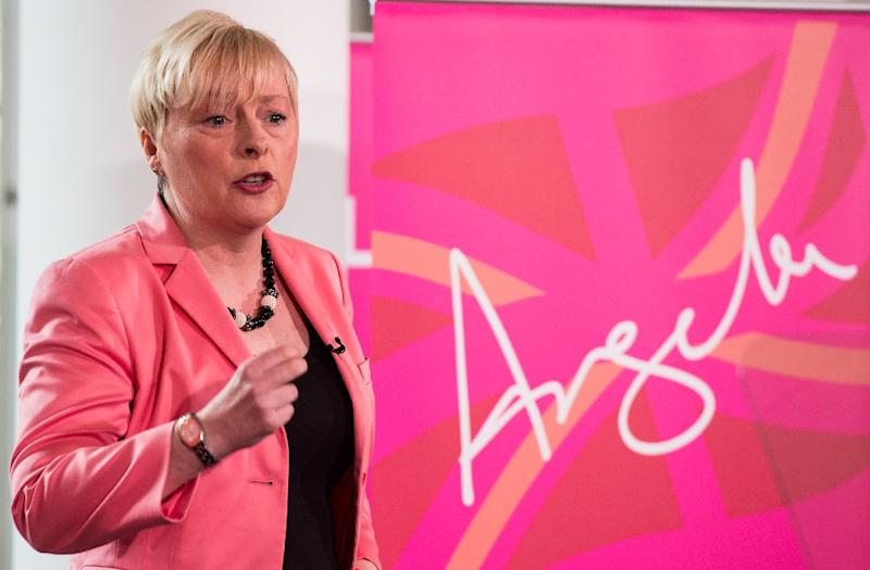 British Opposition Labour Party MP Angela Eagle holds a press conference in London on July 11, 2016