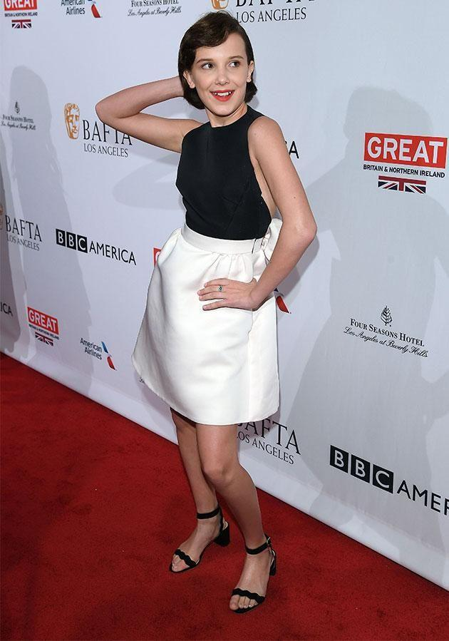 Millie knows how to work the camera! Photo: Getty Images