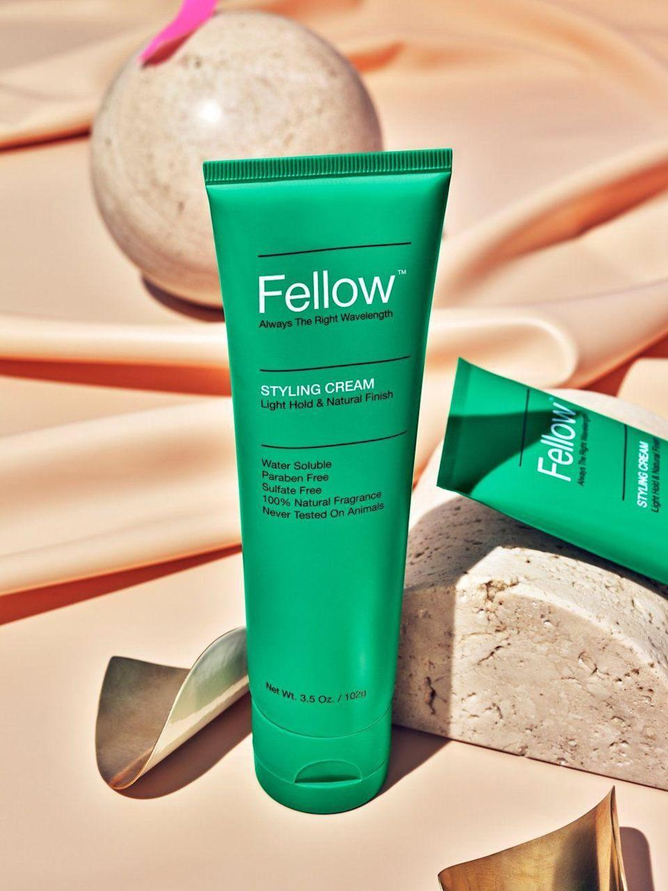 """<p>fellowbarber.com</p><p><strong>$25.00</strong></p><p><a href=""""https://www.fellowbarber.com/products/styling-cream"""" rel=""""nofollow noopener"""" target=""""_blank"""" data-ylk=""""slk:Shop Now"""" class=""""link rapid-noclick-resp"""">Shop Now</a></p><p>Have long hair now? Shape and control your mane with a styling cream. It gives you structure, hold, and flow.</p>"""