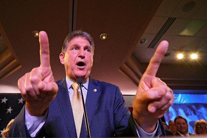 """West Virgina Democratic Senator Joe Manchin said the ruling declaring Obamacare unconstitutional was """"misguided and inhumane"""" (AFP Photo/Patrick Smith)"""