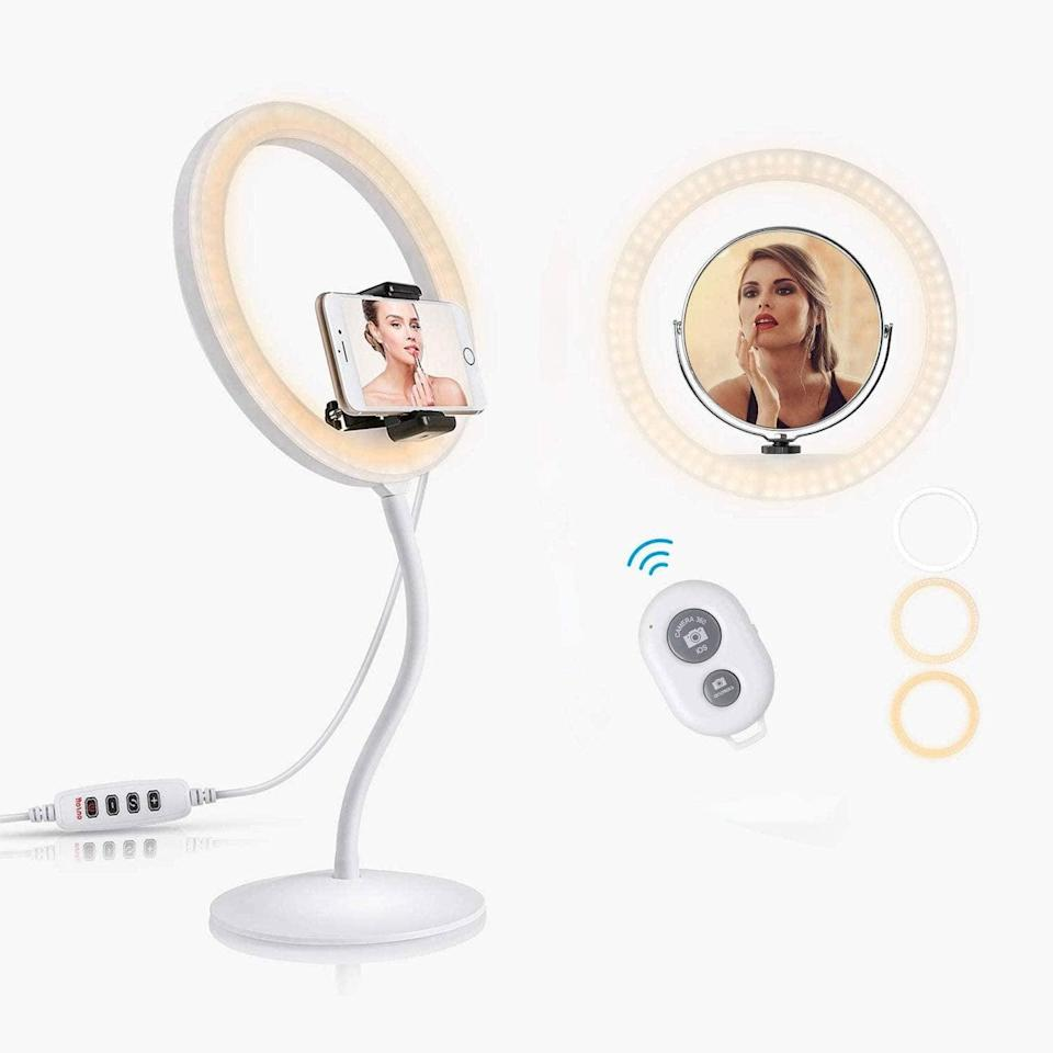 "<p>From TikToks to work from home setups, the <span>MVPower 9"" Selfie Ring Light with Gooseneck Stand</span> ($7, originally $10) will be your new best friend! </p>"