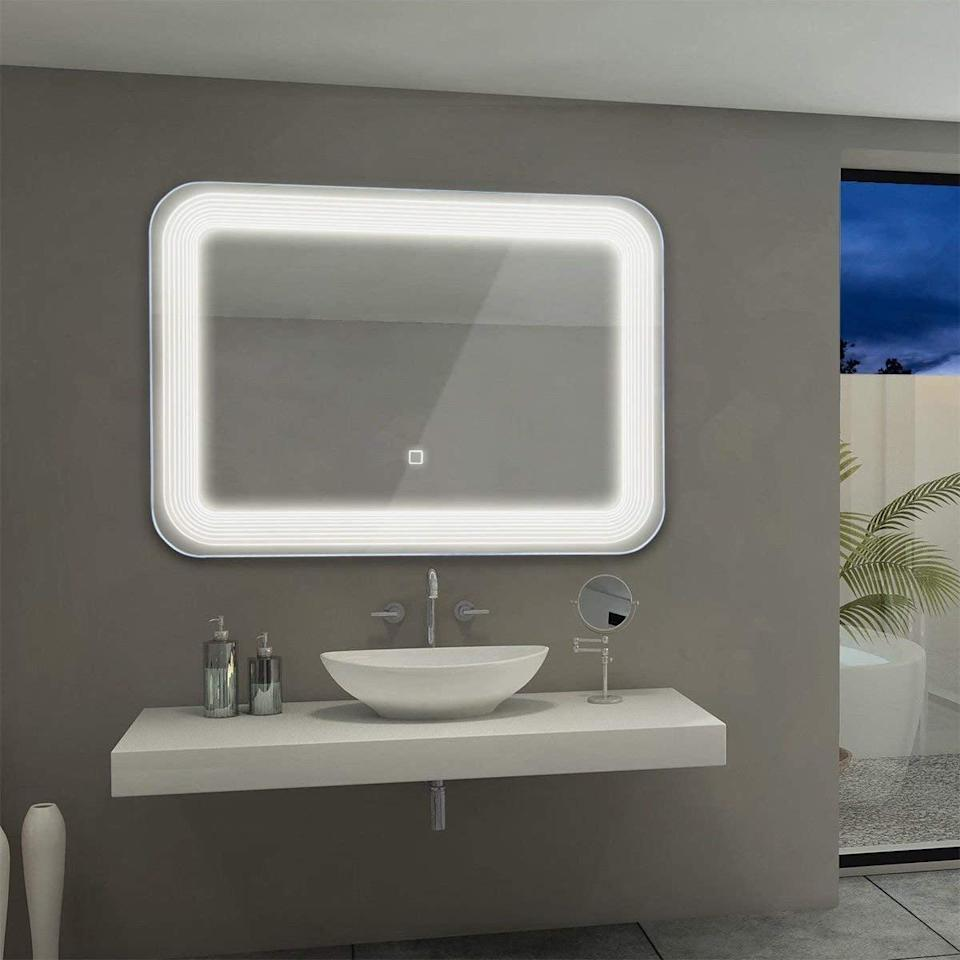 <p>Your bathroom will feel like new when you get this <span>Tangkula LED Mirror Wall Mount Lighted Mirror</span> ($96). Suddenly shaving and doing makeup will be easier than ever, with just the right lighting.</p>
