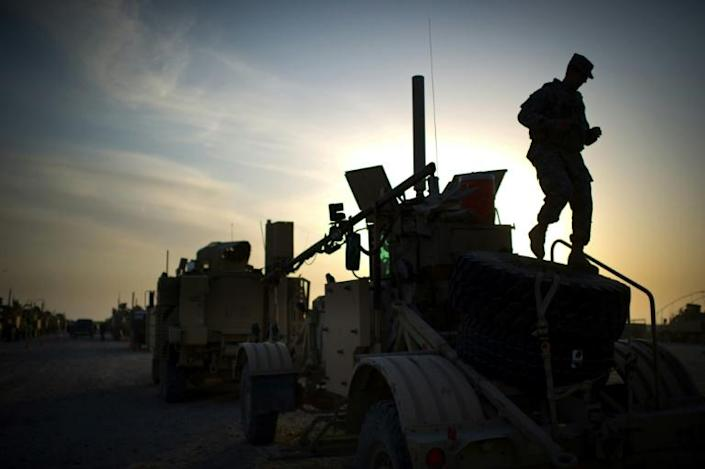 Im 2011, the last US convoy to leave Iraq departed from Camp Adder on the outskirts of the southern city of Nasiriyah (AFP Photo/Martin BUREAU)