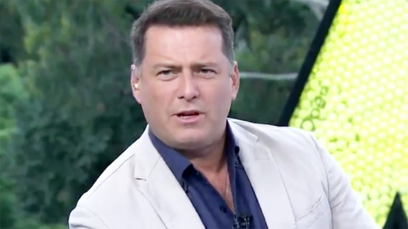 Karl Stefanovic, pictured here slamming the 'disgusting' act at the Australian Open.