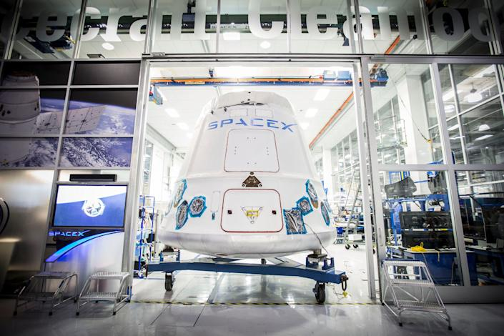 Space X's Dragon spacecraft.