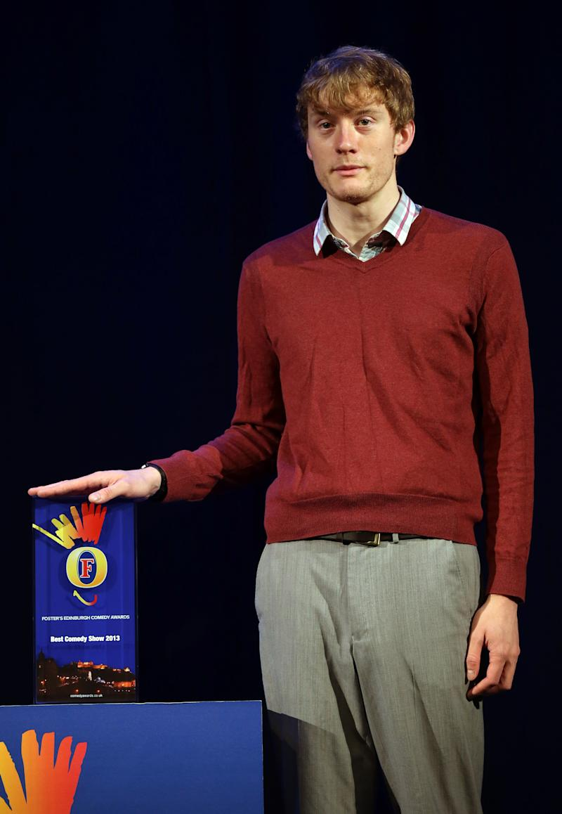 James Acaster- Lawnmower, a finalist in the Foster's Edinburgh Comedy Awards, Edinburgh.