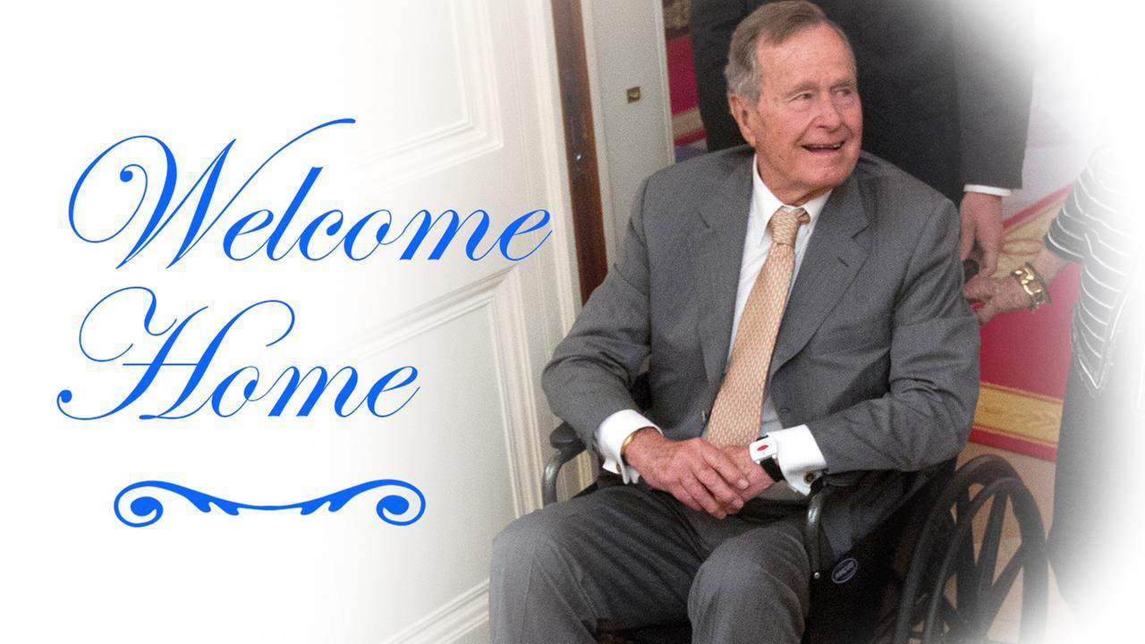 President Bush has been discharged from the hospital after being treated for pneumonia and bronchitis.