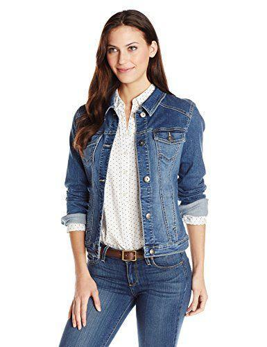"""<p><strong>Wrangler</strong></p><p>amazon.com</p><p><a href=""""https://www.amazon.com/dp/B012OV0QM4?tag=syn-yahoo-20&ascsubtag=%5Bartid%7C10049.g.34058949%5Bsrc%7Cyahoo-us"""" rel=""""nofollow noopener"""" target=""""_blank"""" data-ylk=""""slk:Shop Now"""" class=""""link rapid-noclick-resp"""">Shop Now</a></p><p>If you're looking for a lightweight layer—but don't want to go to full-blown parka territory—you'll love Wrangler's denim jacket. This fitted style has a faded wash to give this layer a subtle worn-in feel. It also has four pockets along the breasts and hips, offering an easy place to stash loose change and keys.<strong><br></strong></p><p><strong>Reviews: </strong>3.5K <strong><br>Rating: </strong>4.7/5 <br><strong>Sizes:</strong> Small-X-Large</p>"""