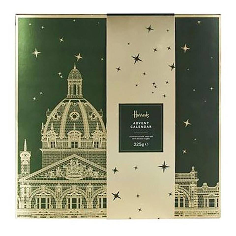 """<p>Harrods have got indulgent covered with this hand-finished advent calendar, full of delectable milk, white and dark chocolate truffles - with flavours that range from salted caramel praline to strawberries and cream and pistachio.</p><p><strong><a class=""""link rapid-noclick-resp"""" href=""""https://go.redirectingat.com?id=127X1599956&url=https%3A%2F%2Fwww.harrods.com%2Fen-gb%2Fharrods%2Ftruffle-selection-advent-calendar-325g-p000000000006462683&sref=https%3A%2F%2Fwww.cosmopolitan.com%2Fuk%2Fworklife%2Fg4194%2Fbest-chocolate-advent-calendars%2F"""" rel=""""nofollow noopener"""" target=""""_blank"""" data-ylk=""""slk:SHOP NOW"""">SHOP NOW</a> Harrods, £40.00</strong></p>"""