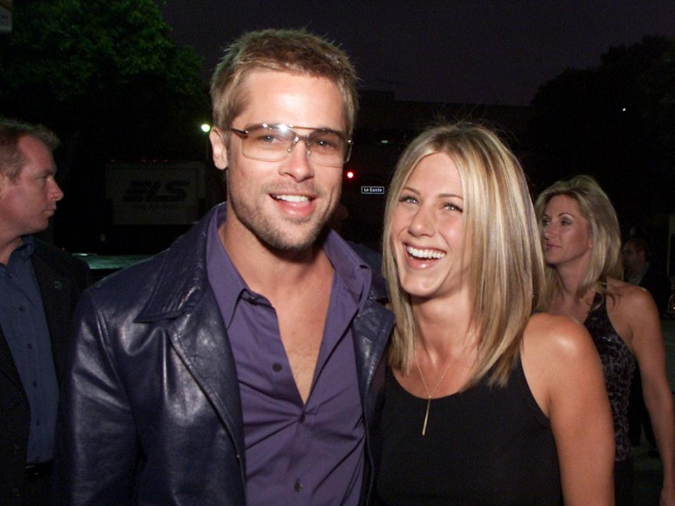Jennifer Aniston says she and Brad Pitt are 'buddies' (Getty Images)