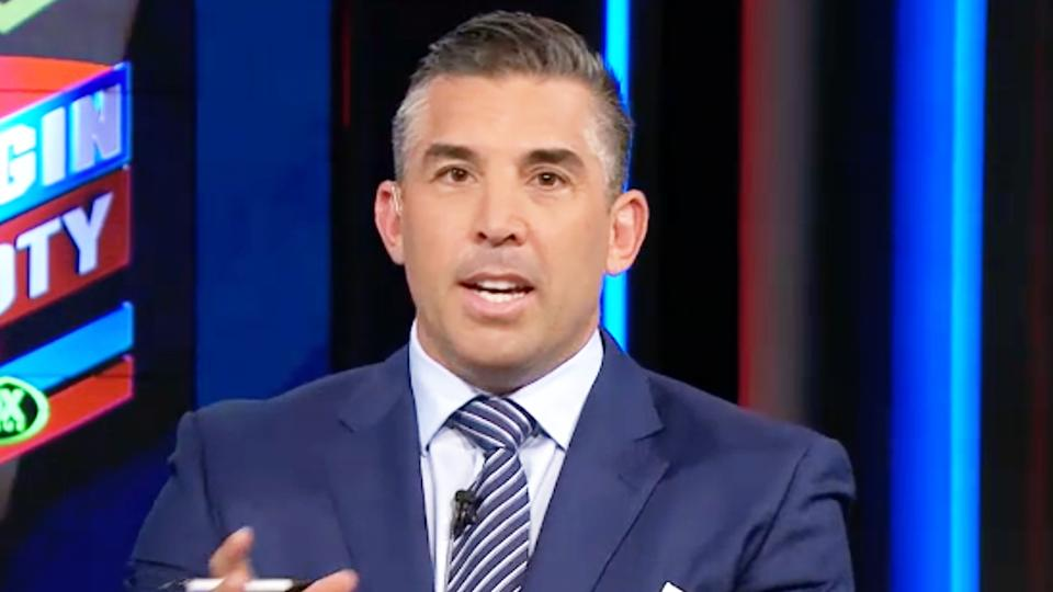 Braith Anasta (pictured) talking on Fox Sports ahead of State of Origin.