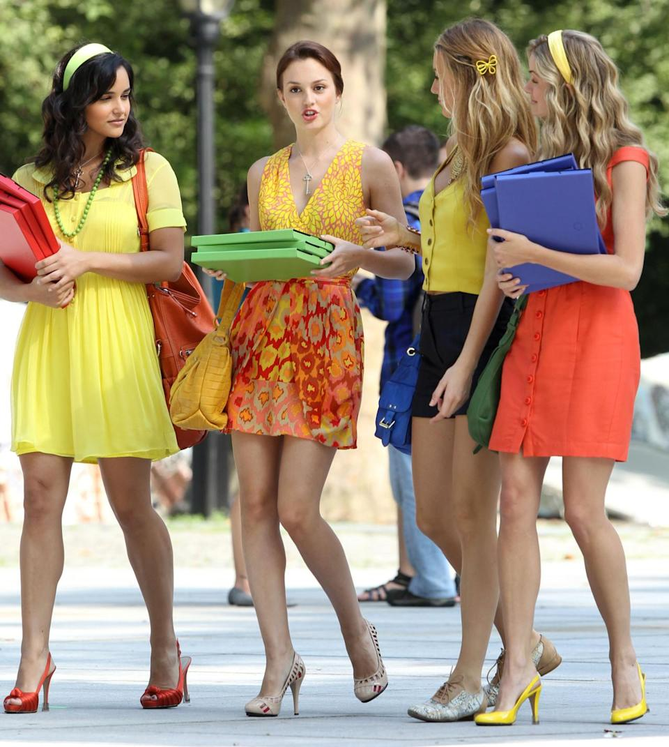 """<p>In this hit television series, based on Cecil Von Ziegesar's bestselling series, Blair Waldorf was the """"Queen B"""" of Manhattan's teenage social scene. She and her minions were oftentimes seen eating lunch on the steps of the Metropolitan Museum. Every member of the posse wore headbands, but Blair's were always the fanciest. <i>(Source: Getty Images)</i></p>"""