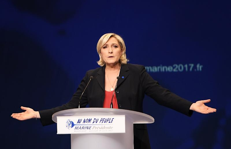 There are fears for the future of the eurozone if far-right candidate Marine Le Pen wins the French presidential election