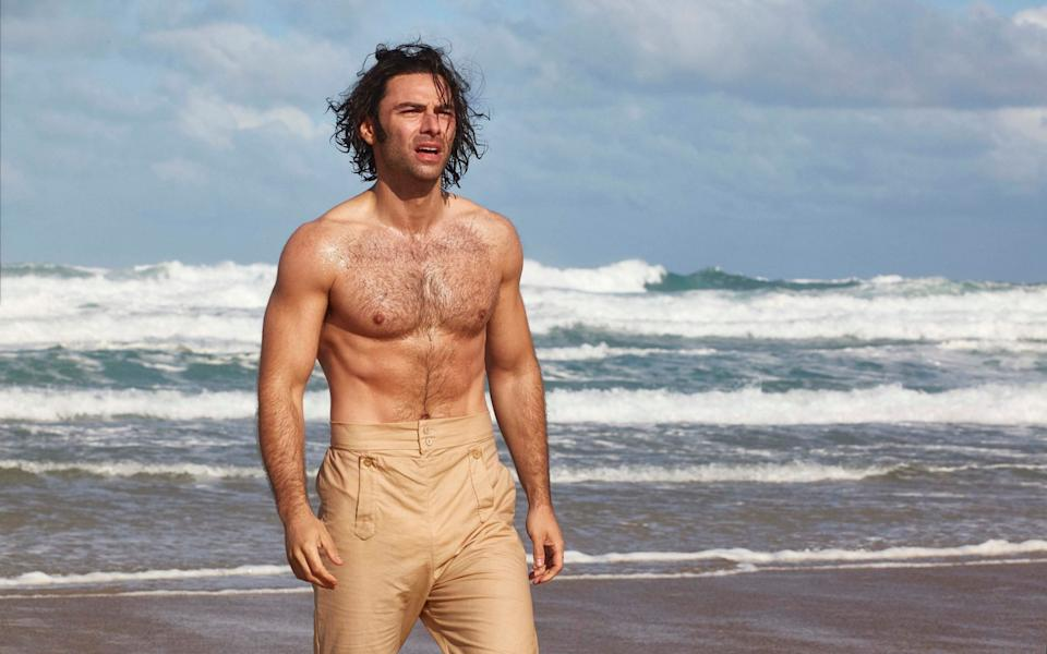 Put a shirt on! Aidan Turner's chest made regular appearances in the recent Poldark remake - BBC