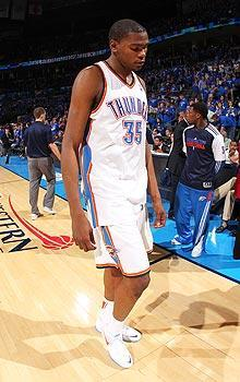 Kevin Durant and the Thunder wasted a 15-point lead in the final 5:04 of the fourth quarter before losing in overtime
