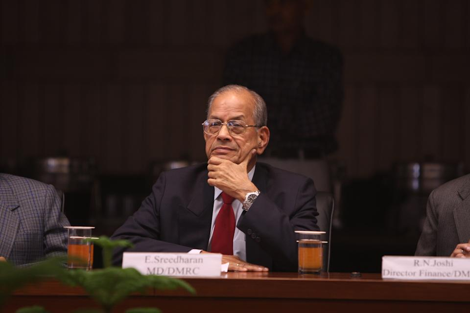 A civil engineer and retired IRSE officer, Sreedharan is popularly known as the 'Metro Man' and was credited for the stellar work he did in building Konkan Railway and the Delhi Metro. His list of honours includes the Padma Shri (2001), the Padma Vibhushan (2008), and the Chevalier de la Légion d'honneur (2005). He also was named one of Asia's Heroes by TIME magazine in 2003.