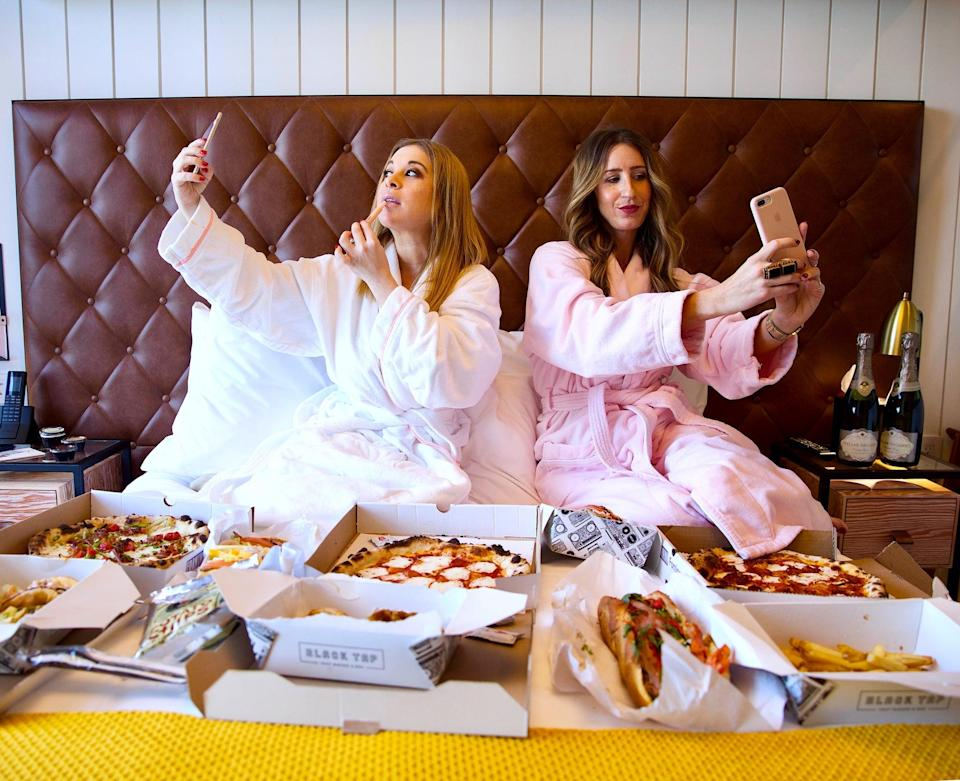 """<p>I sat down with Ashley Hesseltine and Rayna Greenberg, who run the wickedly funny podcast <a href=""""https://www.girlsgottaeatpodcast.com/"""" rel=""""nofollow noopener"""" target=""""_blank"""" data-ylk=""""slk:Girls Gotta Eat"""" class=""""link rapid-noclick-resp""""><b>Girls Gotta Eat</b></a>. They explained, """"In the new year and beyond, women will stop doing sh*t they don't want to do, whether it be on the apps, on dates, or in the bedroom. With our podcast, we hope we've contributed to a movement of women not going out with men out of obligation, shutting down creeps on apps, not sleeping with someone until they're fully ready, and resisting anything that makes them uncomfortable. Ladies are living their best lives (by their own rules) more than ever, and we only see it continuing.""""</p> <p>Amen, ladies! Let's quit the obligation and go live our best lives.</p>"""