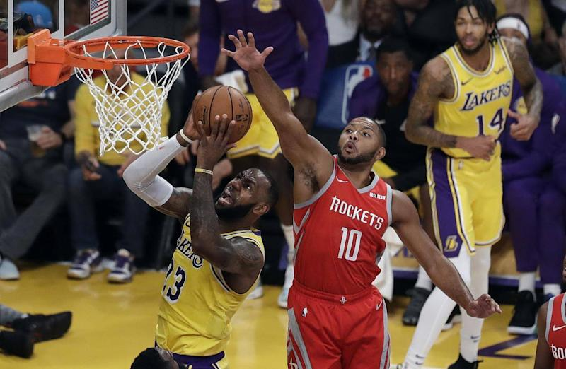 James fell to defeat in his Lakers home debut (AP)
