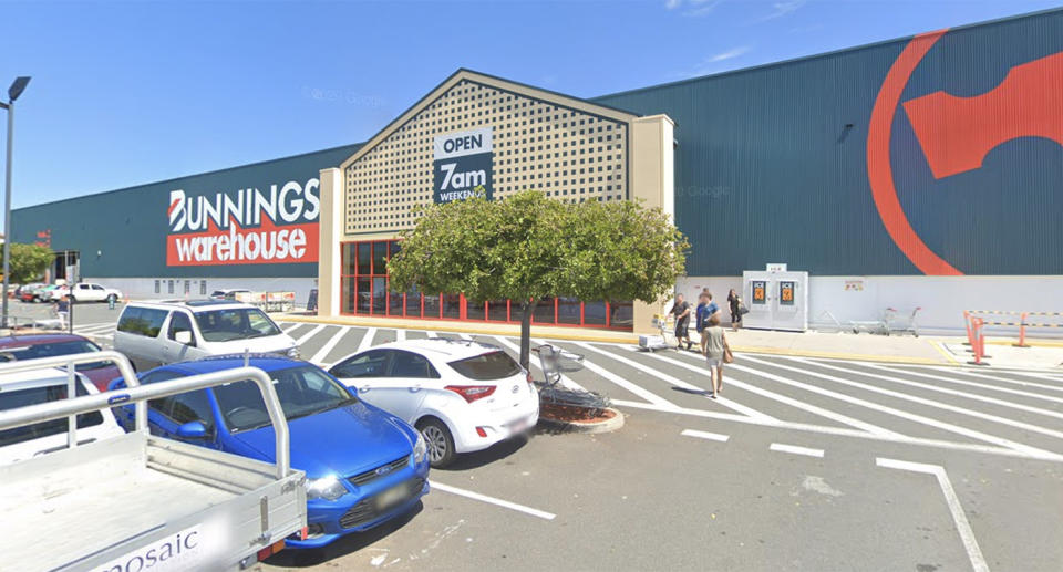 The landscaper also visited a Bunnings store in Stafford. Source: Google Maps