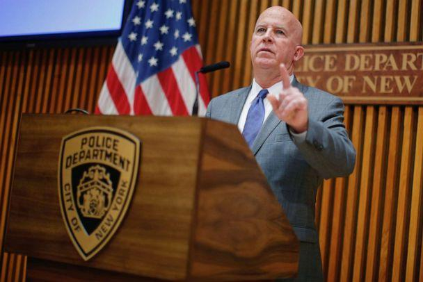 PHOTO: New York Police Department Commissioner James P. O'Neill speaks at a news conference at Police Headquarters in New York, Aug. 19, 2019. (Eduardo Munoz/Reuters)