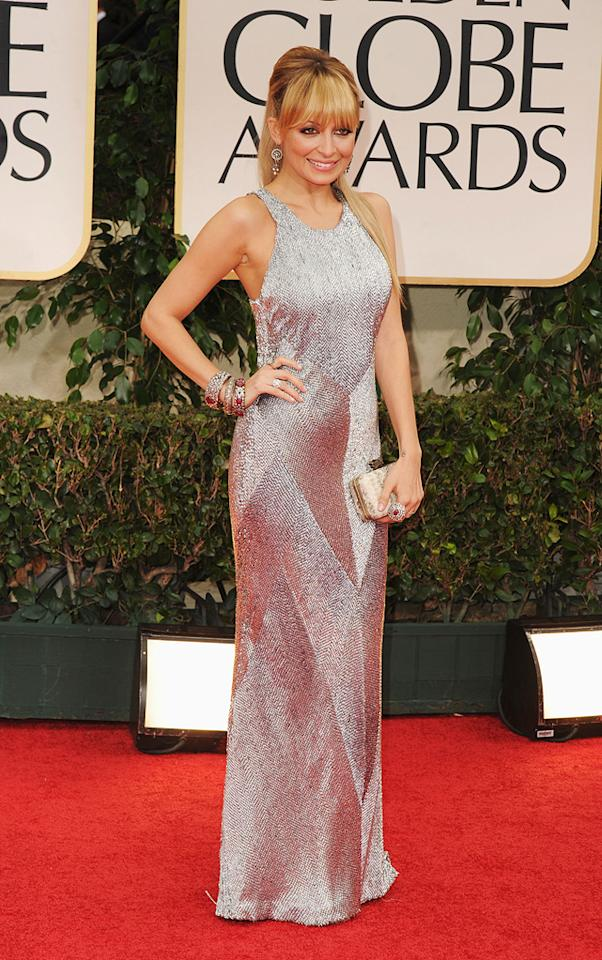Nicole Richie arrives at the 69th Annual Golden Globe Awards in Beverly Hills, California, on January 15.