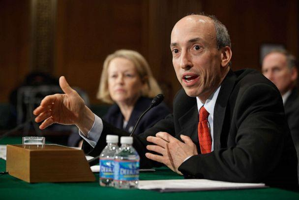 PHOTO: In this May 22, 2012, file photo, Futures Trading Commission Chairman Gary Gensler answers questions from senators while testifying before the Senate Banking, Housing and Urban Affairs Committee about derivatives reform on Capitol Hill. (Chip Somodevilla/Getty Images, FILE)