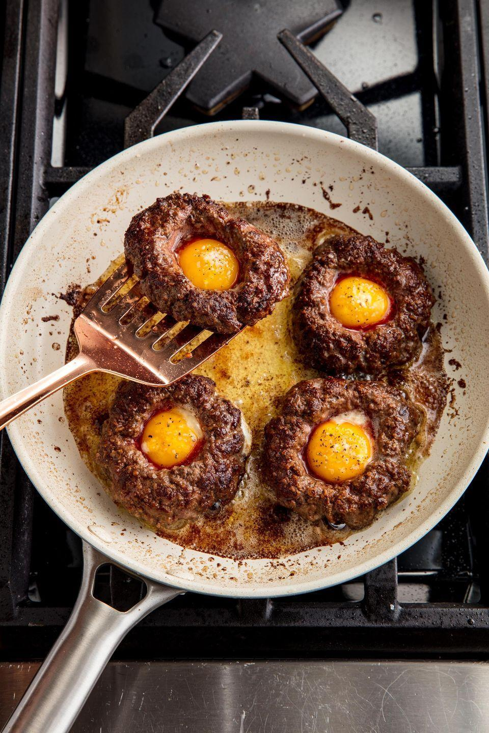 "<p><span>The high-protein dinner of your dreams.</span></p><p><span>Get the recipe from </span><a href=""https://www.delish.com/cooking/recipe-ideas/recipes/a42791/egg-in-a-hole-burger/"" rel=""nofollow noopener"" target=""_blank"" data-ylk=""slk:Delish"" class=""link rapid-noclick-resp"">Delish</a><span>.</span><br></p>"