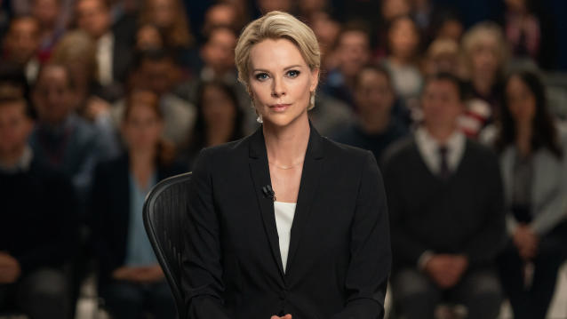 Charlize Theron as Megyn Kelly in <em>Bombshell</em>. (Lionsgate)