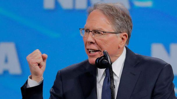 PHOTO: Wayne LaPierre, executive vice president and CEO of the National Rifle Association, speaks at the NRA annual meeting in Indianapolis, Indiana, April 26, 2019. (Lucas Jackson/Reuters, FILE)