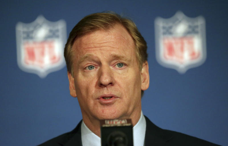 NFL commissioner Roger Goodell addressed the media at his annual state of the league news conference. (AP)