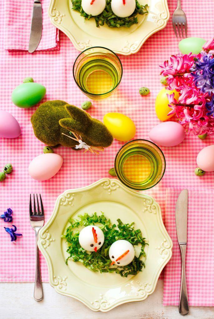 """<p>""""As a lover of bold color and prints, I like to buck tradition and combine saturated colors with the typical Easter pastels. Bringing in strong, saturated colors with the linens and floral centerpieces is a great way to modernize the traditional Easter table and experiment without making a serious commitment."""" <em>—<a href=""""https://www.joystreetdesign.com/"""" rel=""""nofollow noopener"""" target=""""_blank"""" data-ylk=""""slk:Kelly Finley"""" class=""""link rapid-noclick-resp"""">Kelly Finley</a>, Interior Designer</em></p>"""