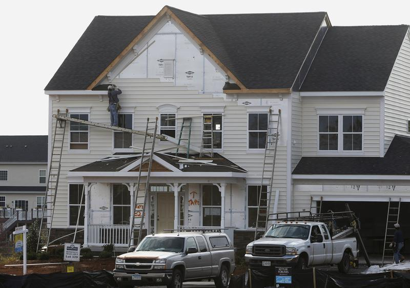 New housing construction is seen in Poolesville Maryland